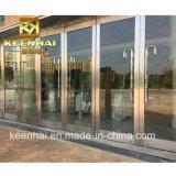 Portello di entrata di vetro commerciale della costruzione dell'acciaio inossidabile di Customed
