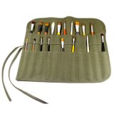 Exército de alta qualidade caneta de tela verde bag bolsa da escova com 22 ansas de inoculação