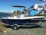 Barcos comerciales del Panga de la fibra de vidrio de Liya el 19FT con el motor
