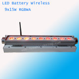 배터리 전원을 사용하는 무선 LED 벽 세탁기 15W x 9
