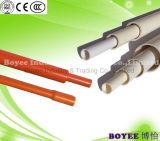 Unterschiedliches Farbe Belüftung-elektrisches Kabel-Rohr-Rohr mit Kontaktbuchse-Ende
