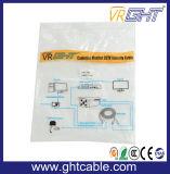 モニタまたはProjetor (J002)のための15mの高品質の男性または男性3+4 VGAケーブル