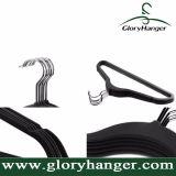 Venta al por mayor Percha Flocado con gancho de metal de terciopelo ropa Hanger plástica para Suppermarket caliente de las ventas 2016