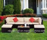 Muebles al aire libre de la rota del hotel del ocio del patio del jardín del sofá seccional de mimbre de la esquina