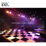 Rk Dance Floor en bois blanc noir pour la décoration de mariage