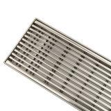 15mmの高さのステンレス鋼の線形シャワーの下水管カバーウェッジワイヤー火格子の挿入
