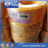 Mangueira de jardim reforçada do PVC da fibra de grande resistência