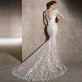 3/4 шнурков мантий втулок Bridal Appliques платье венчания 2018 Lb1901