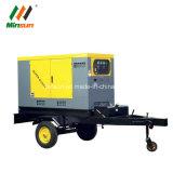 Stille Diesel Generator op Opgezet