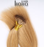 Uitbreiding van het Haar van de Keratine van 18 Duim van het Haar van het Menselijke Haar van Remy de Rechte Bruine