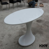 顧客用円形の固体表面の石造りのコーヒーテーブル