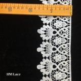 8cm blanc dentelle florale Penoy garnissage coton broderie évidé dentelle Hmhb libre de l'échantillon de fraisage1162