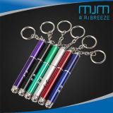 Di promozione del regalo la mini LED torcia elettrica del laser Pointer& con scrive la penna e la catena chiave