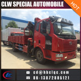Caminhão montado caminhão do guindaste da junta do camião de China FAW 5-10ton