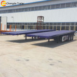 Reboque 40FT Flatbed de 3 chassis do recipiente do eixo 20FT Semi