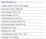 Corrosion-Resisting Ligero de excelente calidad de la grúa de OCS Escala