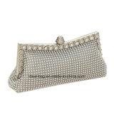 형식 호화스러운 수정같은 다이아몬드 프레임 저녁 핸드백 지갑 지갑을 Wedding 신부 은 지갑 여자