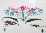 Стикер самоцвета нового лицевого стикера брови смолаы стикеров Tattoo кристаллический акриловый (S057)