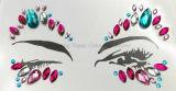 La moda de Rhinestones autoadhesiva personalizado Caja de seguridad de la piel Joyería Tatuaje ojos Crystal Sticker (SR-18)