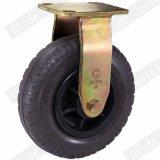 8 بوصة عجلة أسود مطّاطة ثقيلة - واجب رسم سابكة صناعيّة