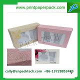 Rectángulo de empaquetado de empaquetado modificado para requisitos particulares del regalo cosmético de Fullset de la cartulina de la joyería