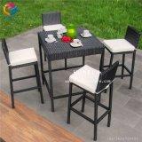 Jardim Exterior Hotsale barato conjunto de mesa mesa e cadeira de vime