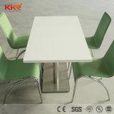 Pedra artificial mobília moderna sala de jantar com cadeiras de mesa quadrado