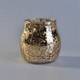 sostenedores de vela de cristal hechos a mano 540ml con el oro frustrado