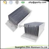 建築材料の高度アルミニウムは脱熱器の側面図を描く