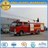 4X2 motor Isuzu Cabina Dupla 3000 litros de água caminhão de combate a incêndios