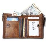 Hot Salts Vintage Genuine Cow Leather Wallet for Men