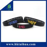 Il silicone personalizzato di Debossed lega i braccialetti dei Wristbands (TH-05176)
