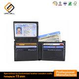 Cuero de bloqueo de RFID Mens Monedero monedero de la tarjeta de crédito