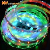 WS2811 magische Digitale RGB Adresseerbare LEIDENE LEDs/m DC12V van de Kleur 30/48/60 Strook met FCC van Ce RoHS Certificatie