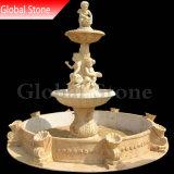 La nature Jardin de sculpture sur marbre Fontaine d'eau décoratifs (GSF-157)
