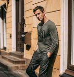 Enfriar la ropa de algodón/poliéster impresas de los hombres de manga larga camisetas