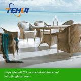 Алюминиевая рама древесины сада на верхнем столом и 6 стульями