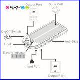 Solar portátil 5000mAh de energía cargador de batería del teléfono móvil