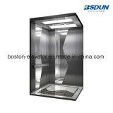 Espejo de acero inoxidable de 8 personas ascensor de pasajeros con pasamanos
