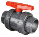 Single Doble de PVC de alta calidad de las válvulas de bola de la Unión