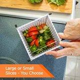 De grote Salade die van de Bijl van het Fruit van de Servers van de Snijmachine Plastic de Kom van de Snijder/het Snijden Kom mengen