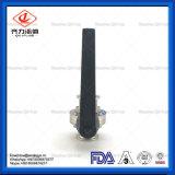 304L/316Lプラスチックまたはステンレス鋼のハンドルのMuitlの位置の溶接端の蝶弁