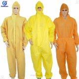 Polietileno desechables, poli PE PP+PE PP SMS Nonwoven microporoso en general, vestido de protección, ropa protectora, batas desechables mono de prendas de vestir