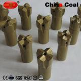 탄소 강철 스레드에 의하여 가늘게 하는 채광 착암기 단추 비트