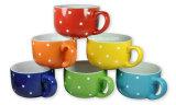 Canecas cerâmicas coloridas do café & da sopa/bacia com a tampa para o cliente do OEM