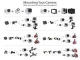 Kamera-Sturzhelm-Kamera des Vorgangs-4k 170 Grad-Sport-Kamera