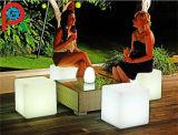 De openlucht Decoratieve Verlichte Lichte LEIDENE van de Kleur Zetel van de Kubus voor Verkoop