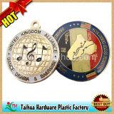 Ricordo rotondo delle medaglie del metallo della bandierina e della terra (TH-mkc100)