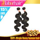 Extensões peruanas do cabelo humano do Virgin da onda do corpo