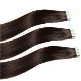 Extension bleue superbe de cheveux de bande de cheveux brésiliens en gros de 100% double